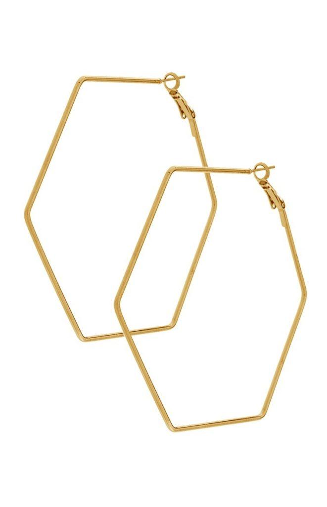 Aro de hexágono dorado