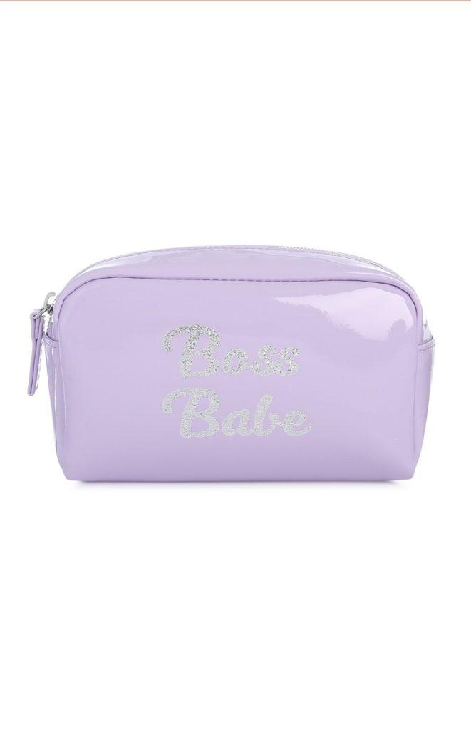 Bolsa para cosméticos lila boss babe