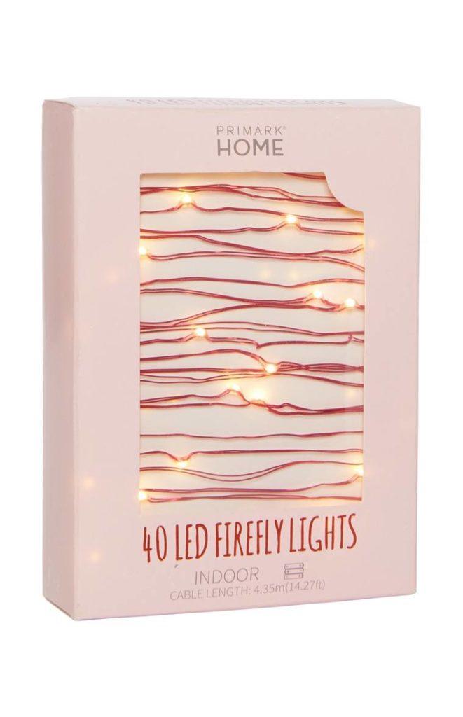 Cadena de 40 luces LED efecto luciérnaga