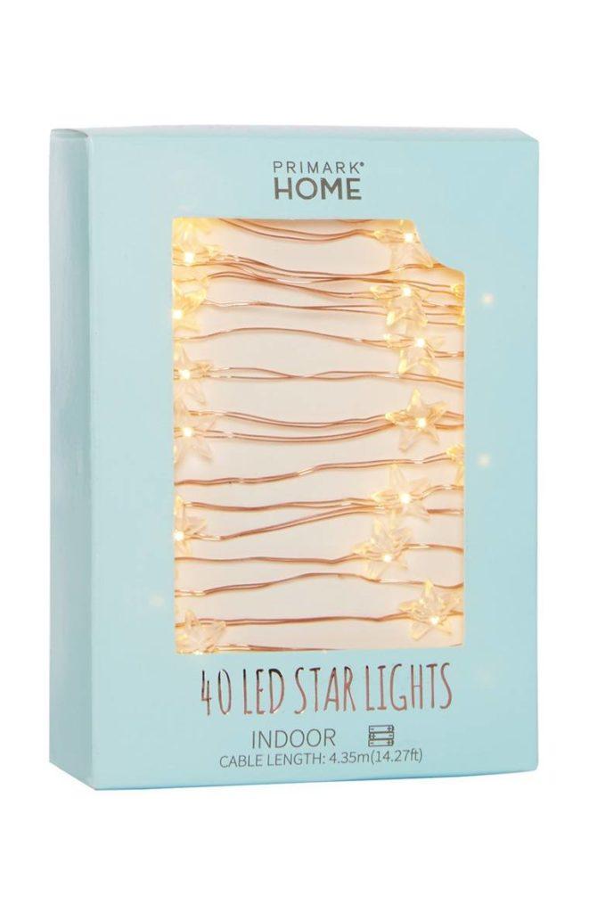 Cadena de 40 luces LED en forma estrella