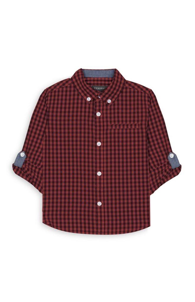 Camisa de cuadros rojos para bebés