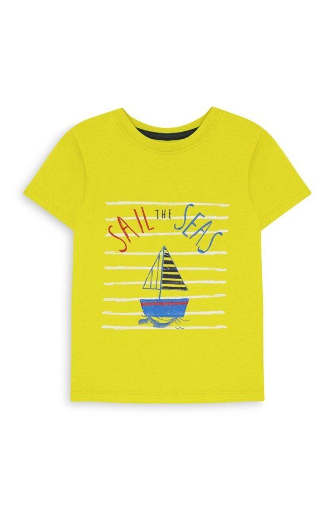 Camiseta amarilla de niño
