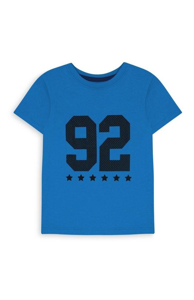 Camiseta con estampado azul