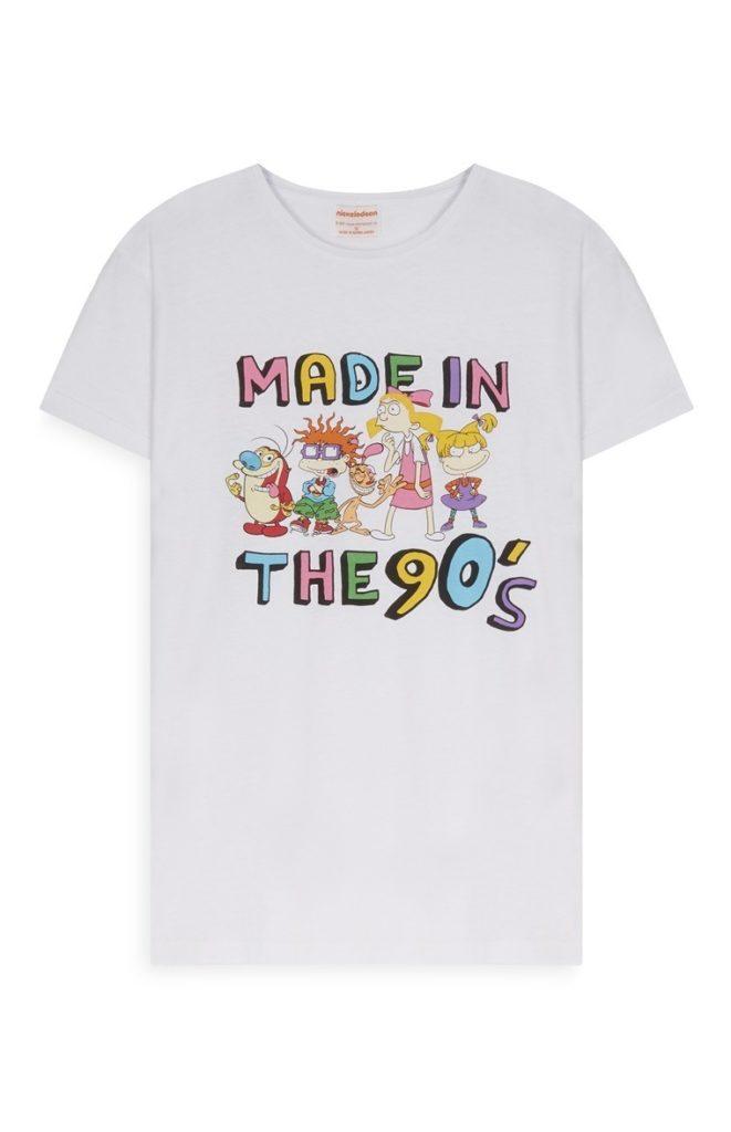Camiseta de Nickelodeon de los 90s