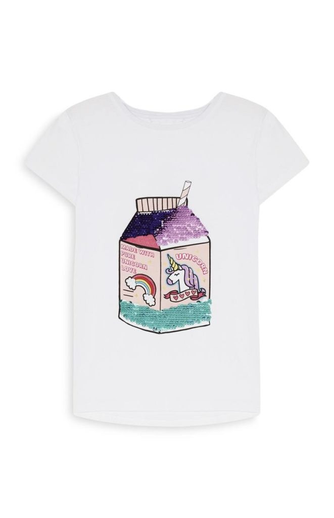 Camiseta de lentejuelas con Unicornio para niñas