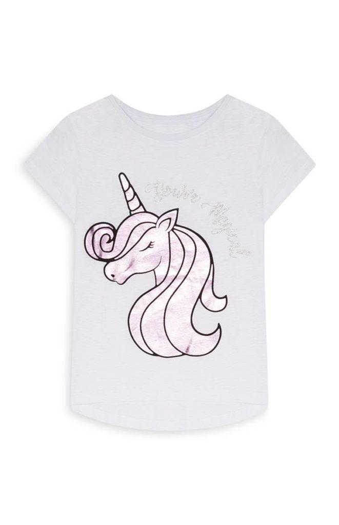 Camiseta de unicornio para niña