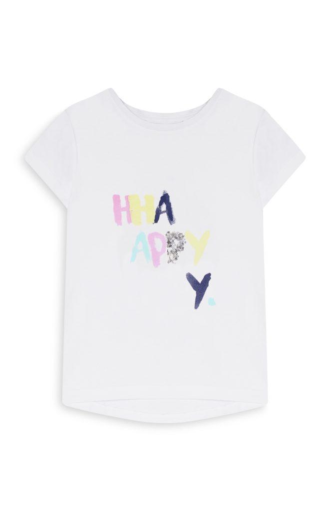 Camiseta para niña happy