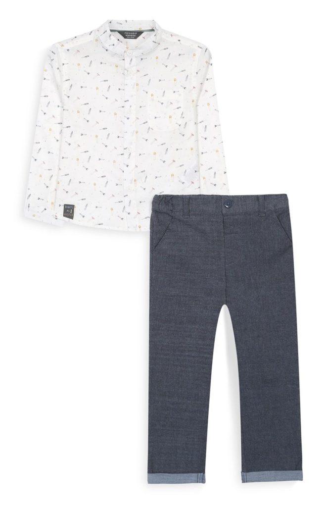 Conjunto de camisa y jeans para niño