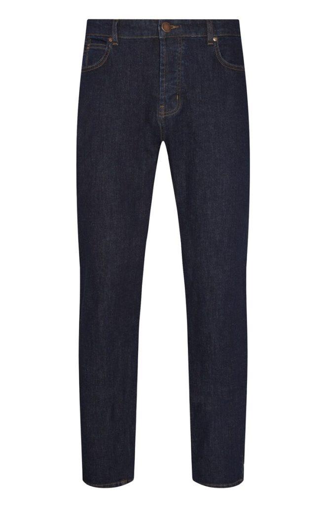Jeans azul índigo de pierna recta