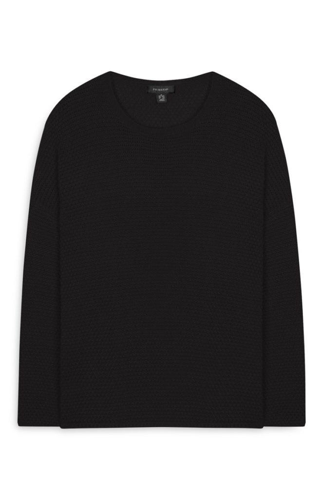 Jersey con cuello redondo negro