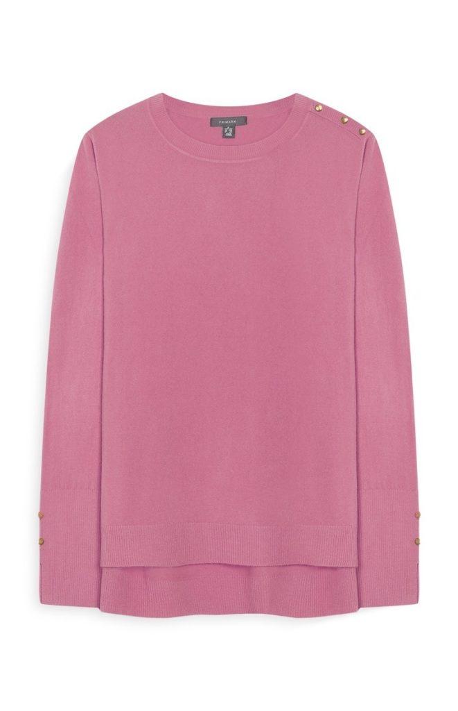 Jersey rosa con detalle de botón