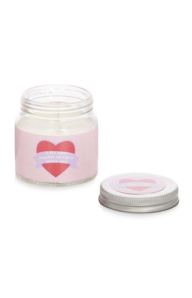 Mini tarro de velas de San Valentín
