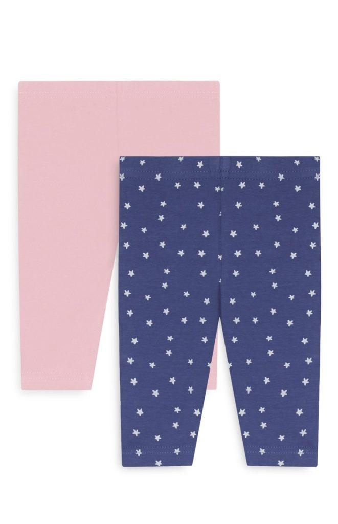 Pack de 2 leggings para bebe niña