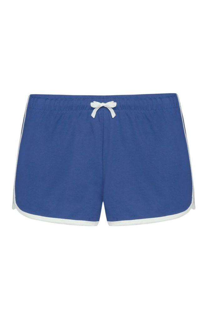 Pantalones cortos azules de mujer
