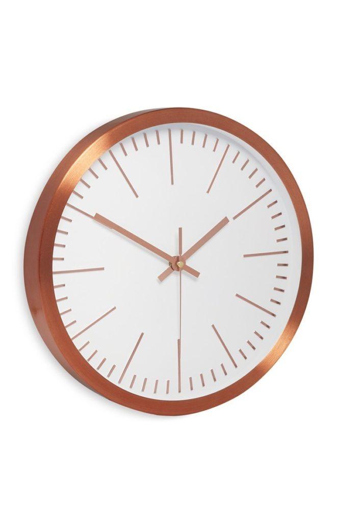 Reloj de pared de cobre