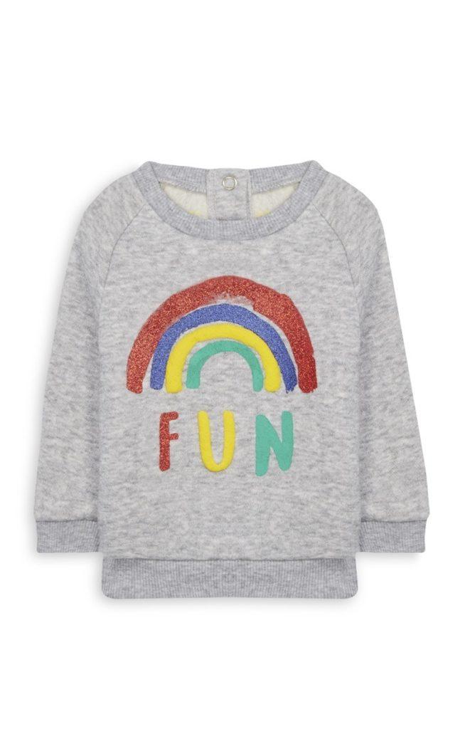 Top de bebé niña con arcoíris
