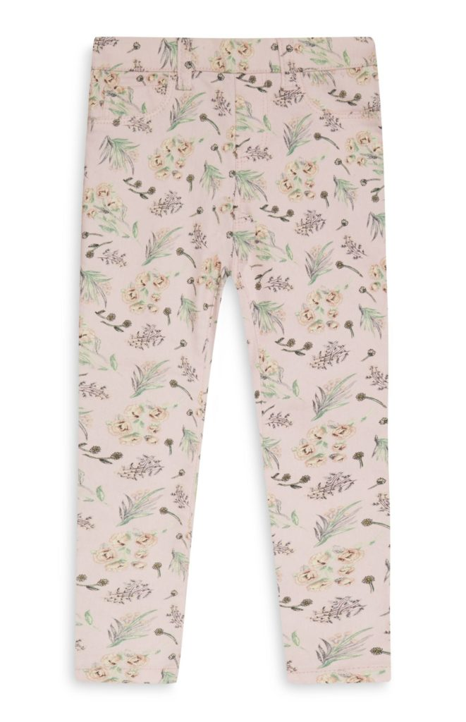 Younger Girl Blush Printed Jegging
