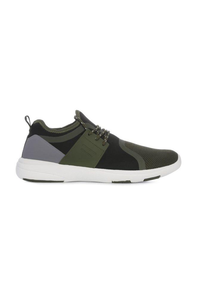 Zapatos deportivos verde para hombre