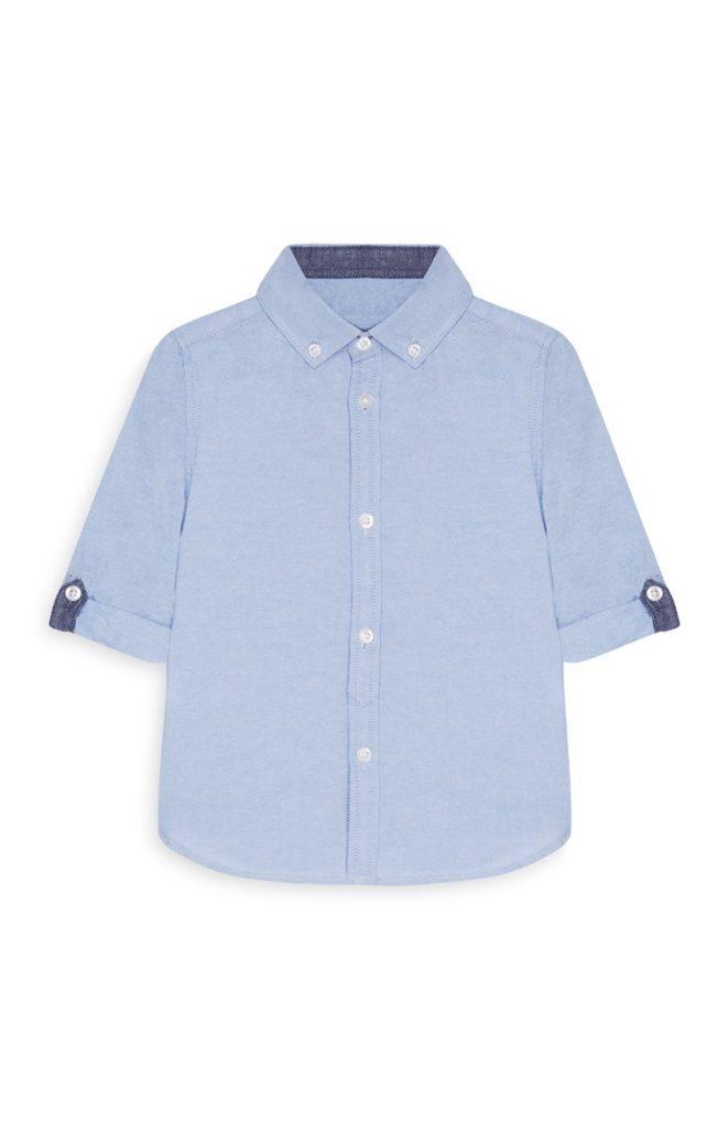 Camisa Oxford Azul de Bebe