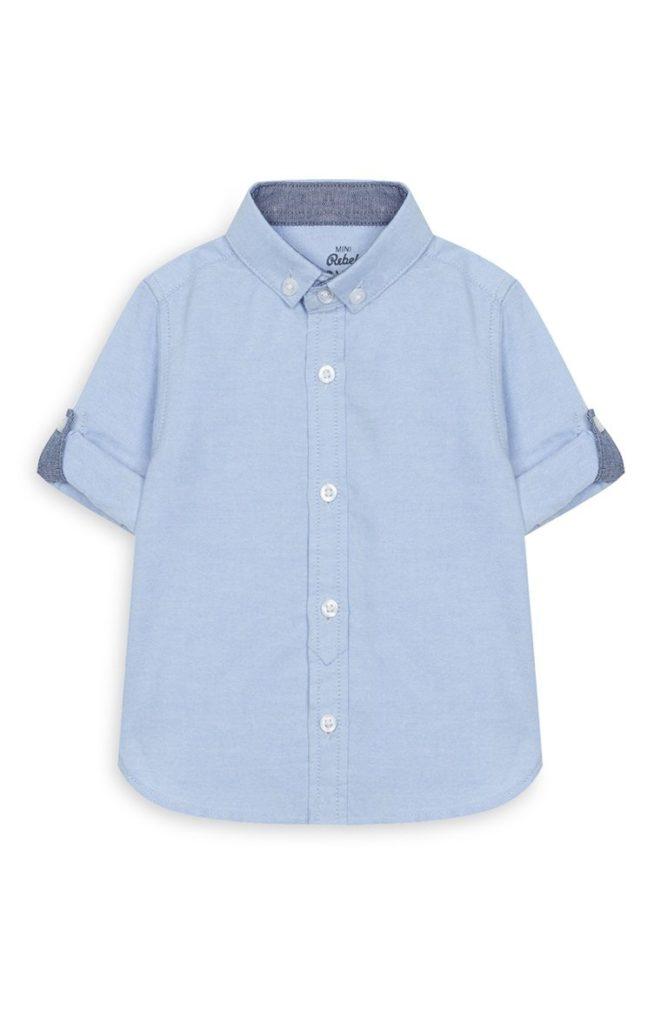 Camisa Oxford Celeste de Bebe