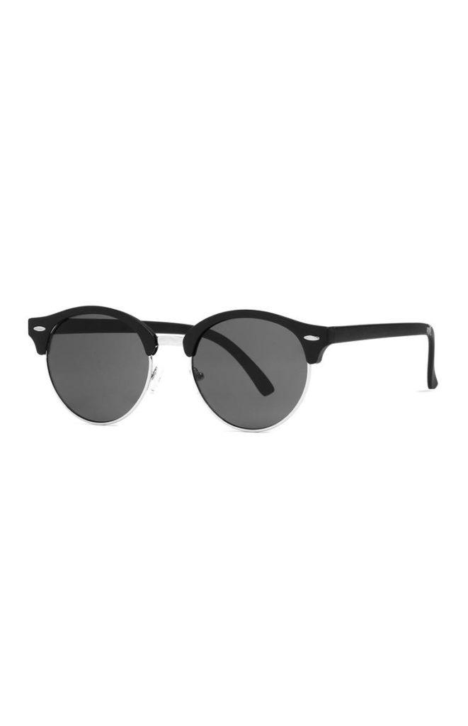 Gafas de Sol Plateadas y Negras
