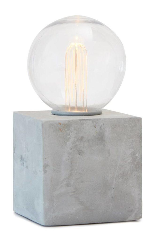 Lámpara de Hormigón con Bombilla