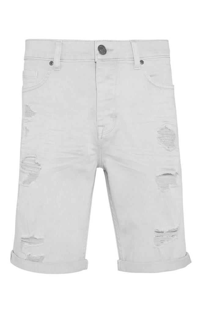 Pantalón Corto Entallado Blanco