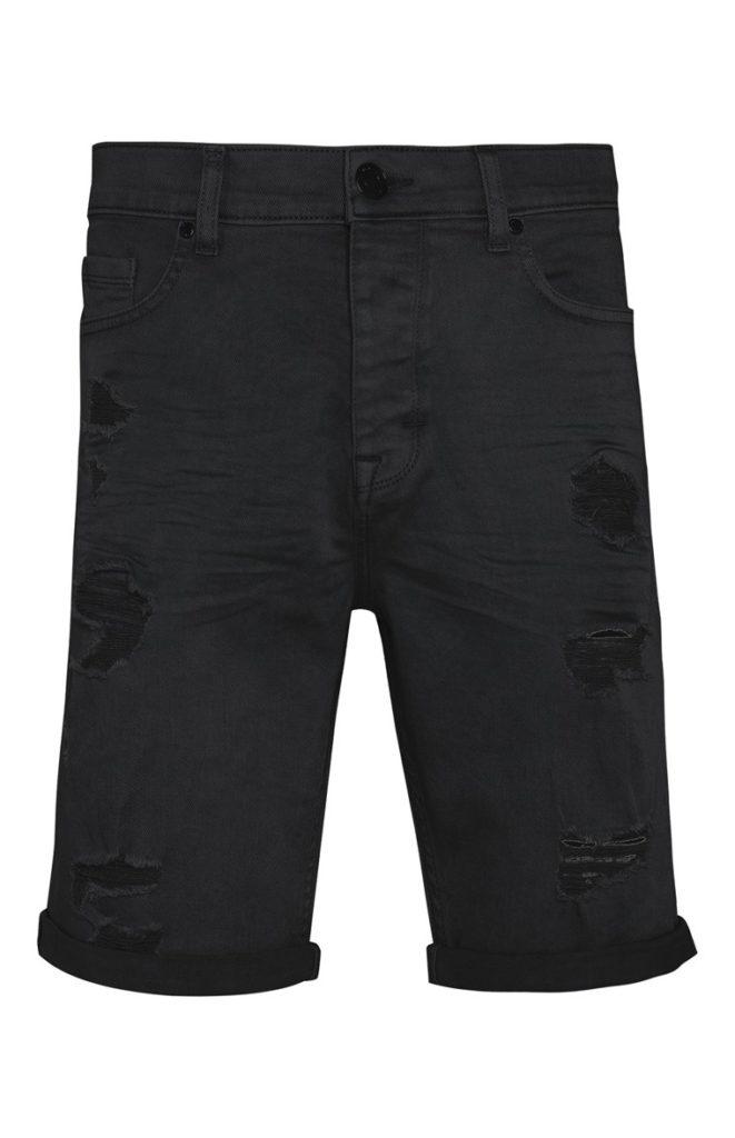 Pantalón Corto Entallado Negro