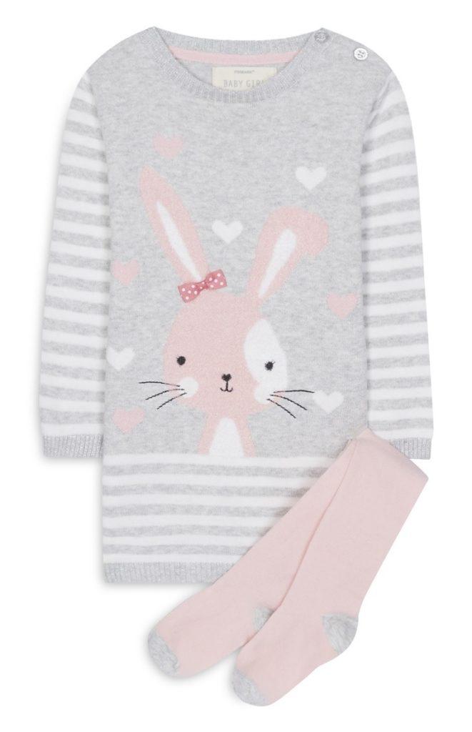 Vestido de Conejo Para Bebe con Calcetines