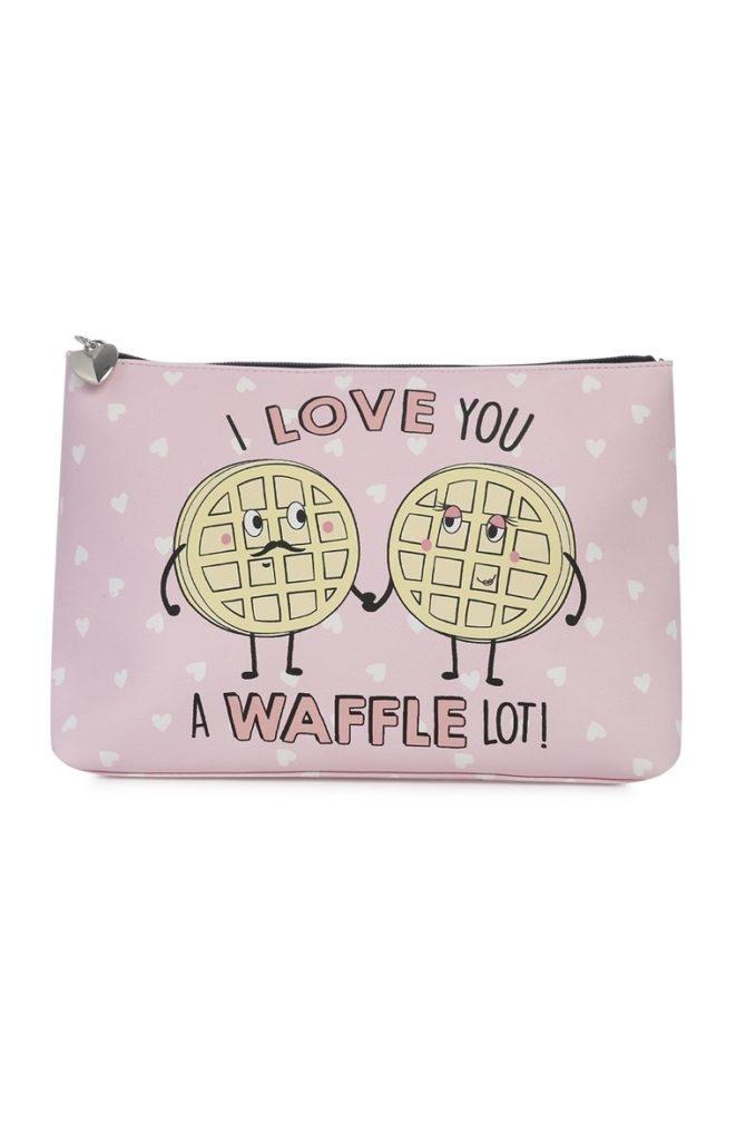 Bolsa de maquillaje de Waffle