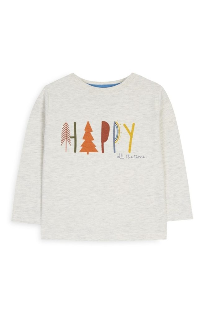 Camiseta happy para bebé niño