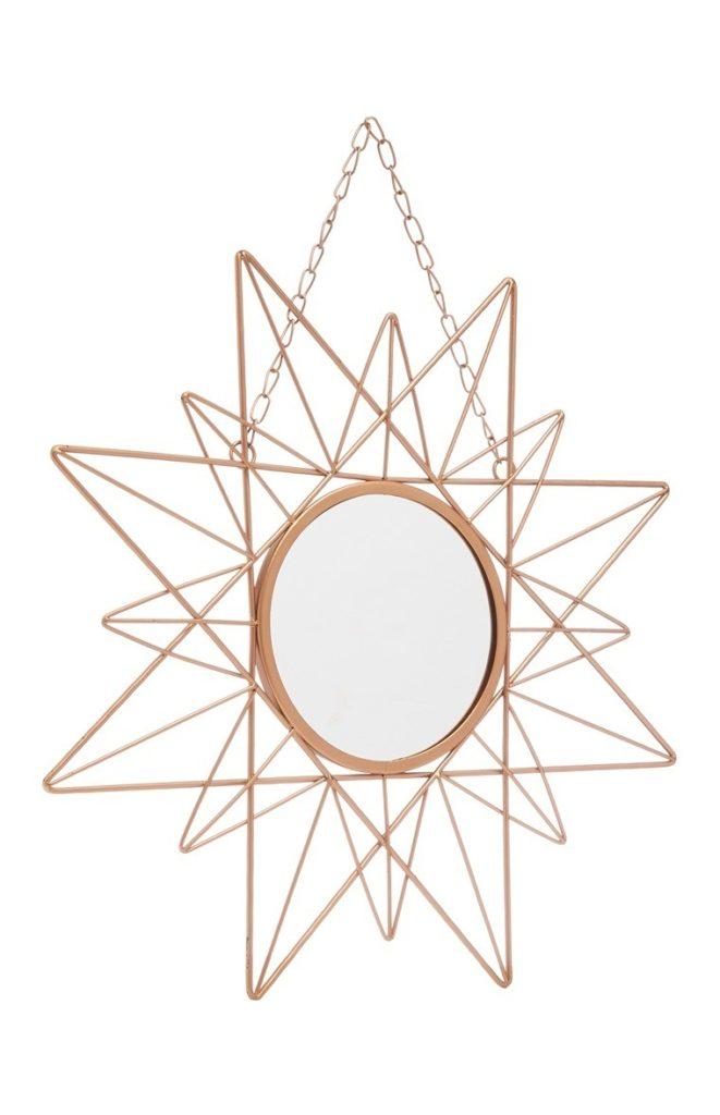 Espejo de Pared en Forma de Estrella