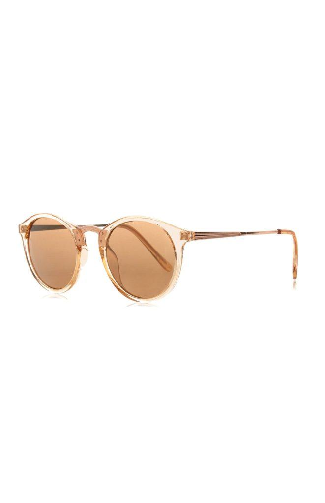 Gafas de sol doradas redondeadas