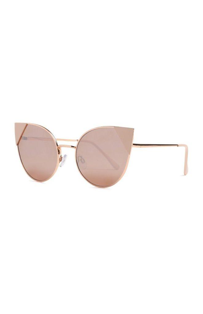 Gafas de sol rosado pastel de ojo de gato