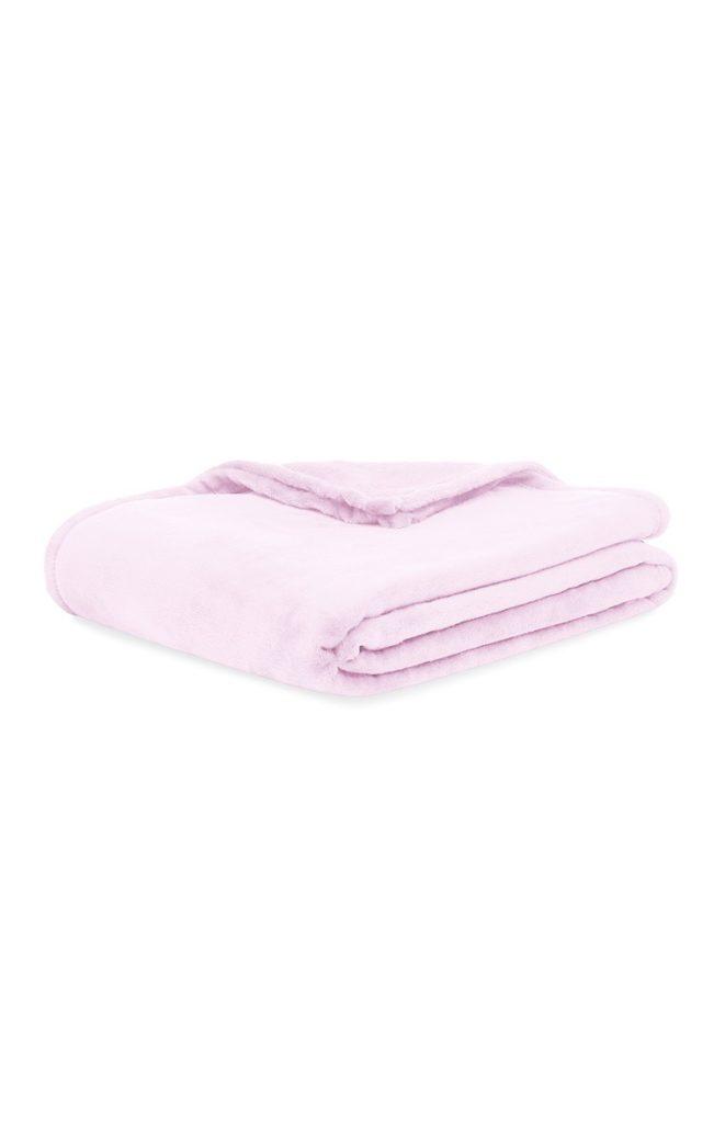 Manta supersuave rosa