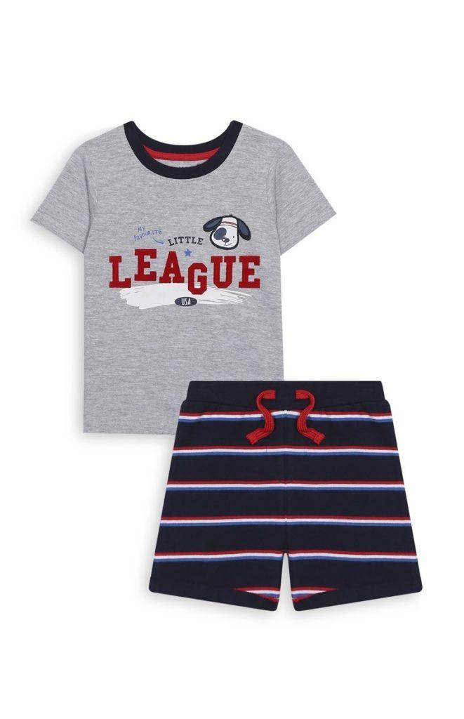 Set de camiseta y short baby boy