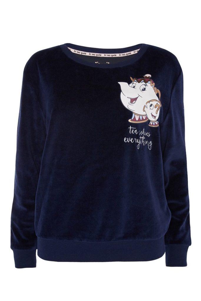Suéter de Pijama Azul de La Bella y La Bestia