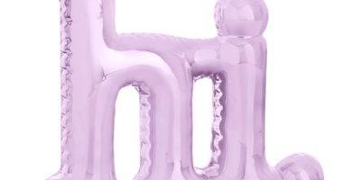 Adorno hinchable rosa «Hi»