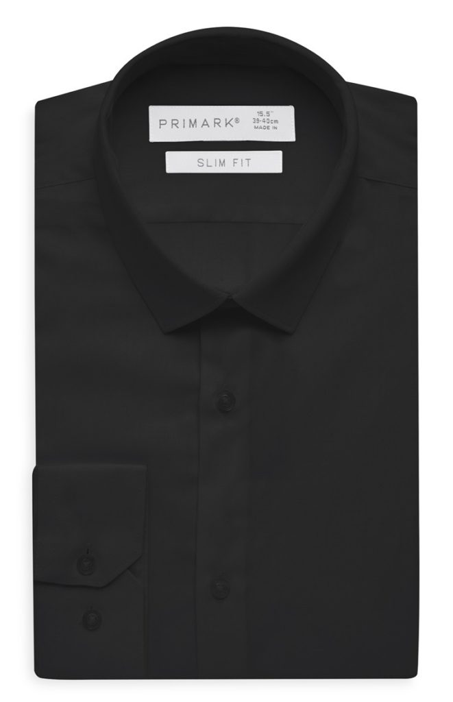 Camisa de algodón egipcio negra