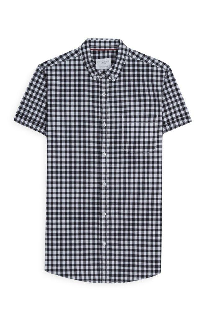 Camisa de manga corta a cuadros