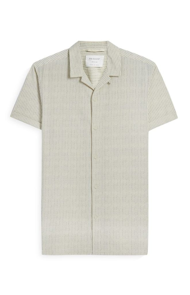 Camisa de manga corta de algodón