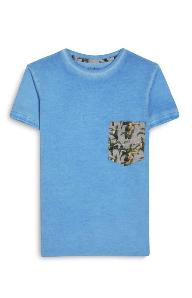 Camiseta con lavado ácido de niño mayor