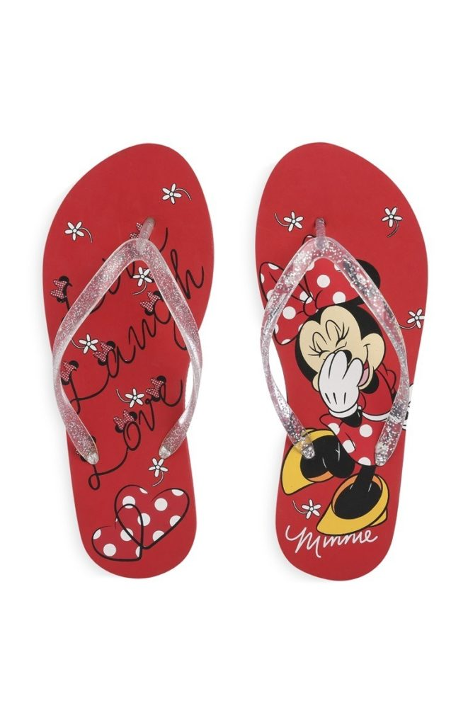 Chanclas rojas de Minnie de Disney