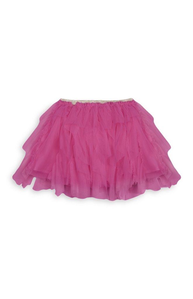 Falda de tul fucsia para niñas