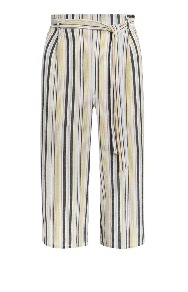 Falda pantalón amarilla a rayas