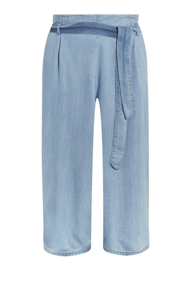 Falda pantalón vaquera con cinturón