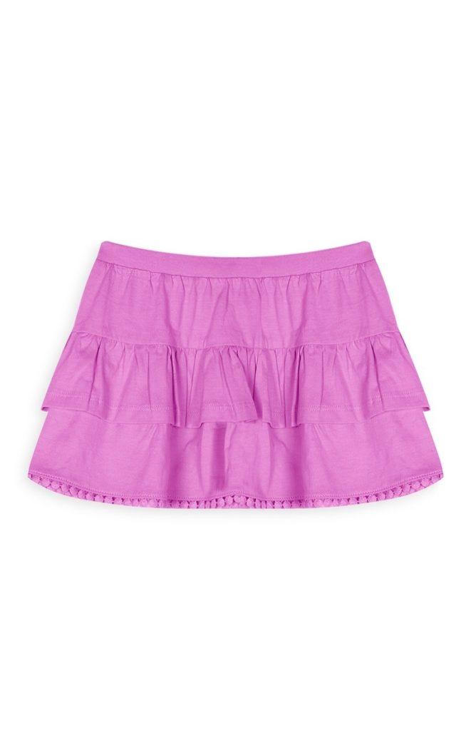 Falda rosa para niñas
