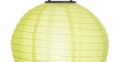 Farolillo solar colgante amarillo