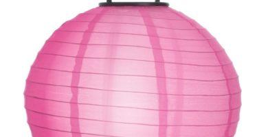 Farolillo solar colgante rosa