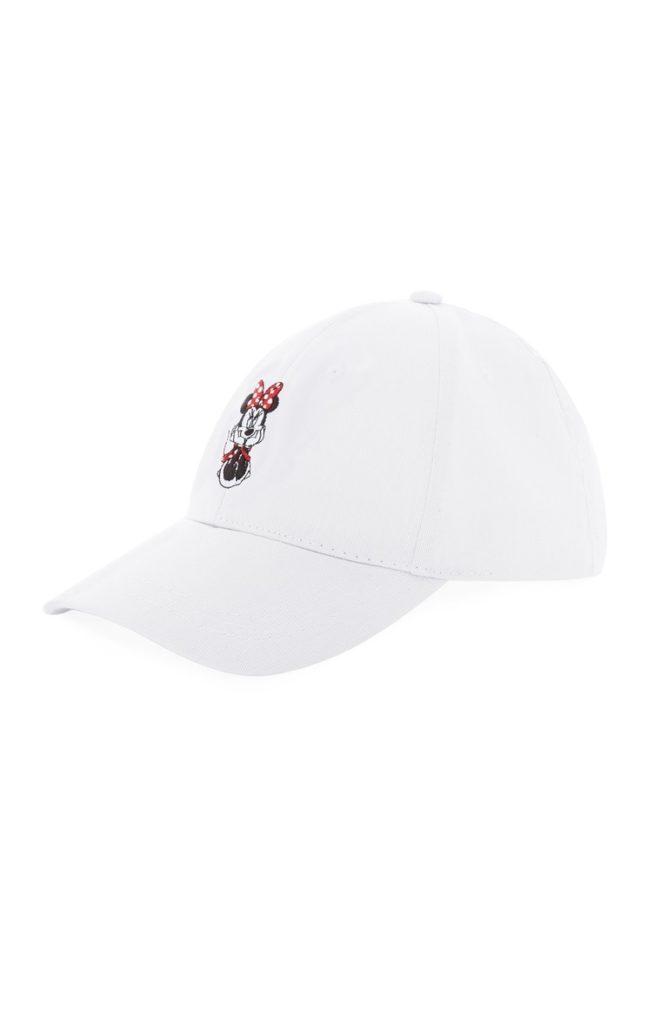 Gorra blanca de beisbol de Minnie Mouse